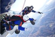Saut de l'avion à 4000 m